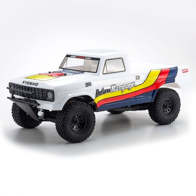 Automodelo Kyosho 1:10 Rc Ep Rs Truck Outlaw Rampage 2Wd Branca Rádio Kt231P