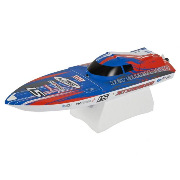 NAUTIMODELO KYOSHO 1:20 RC EP RS JETSTREAM 600 VE AZUL RÁDIO KT231P