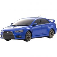 AUTOMODELO KYOSHO 1:27 RC EP MINI-Z AWD SPORTS MA-020S RS MITSUBISHI LANCER AZUL RADIO KT19