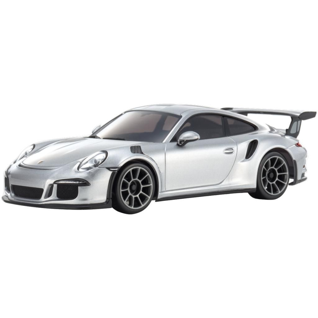 AUTOMODELO KYOSHO 1:27 RC EP MINI-Z RACER SPORTS2 MR-03 PORSCHE 911 GT3 RS PRATA RADIO KT19